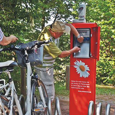 E-bike filling station